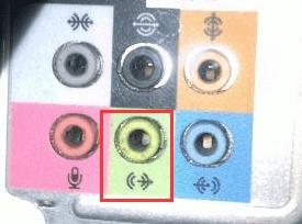 认识主机后面的6个音频接口