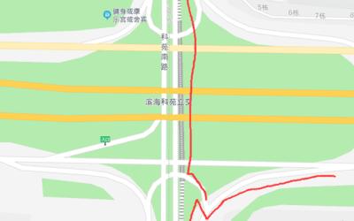 去深圳湾公园的几条路线及关键的天桥、立交、桥洞