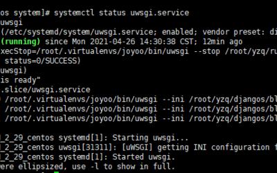 centos7 systemctl 添加 uwsgi(开机启动)